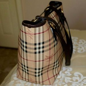 Handbags - Authentic BURBERRY Haymarket Check Tote Shoulder